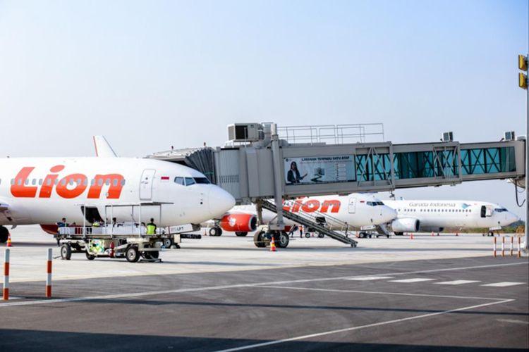 Sejumlah maskapai mulai beroperasi di Bandara Kertajati pada hari pertama pengalihan penerbangan dari Bandara Husein Sastranegara Bandung, Senin (1/7/2019).
