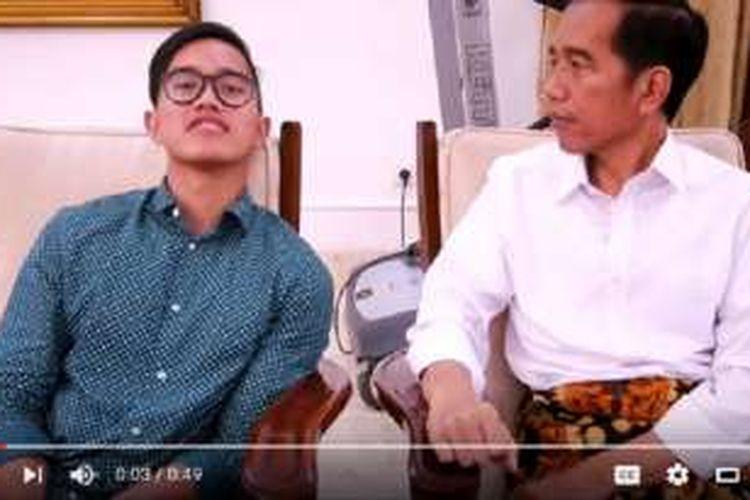 Presiden RI Joko Widodo muncul di vlog terbaru sang putra bungsu, Kaesang Pangarep.