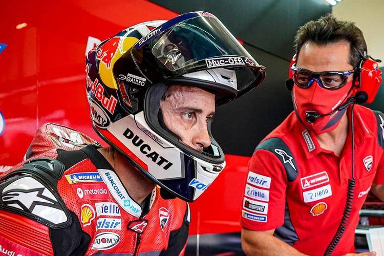 Andrea Dovizioso saat berlaga di MotoGP Catalunya