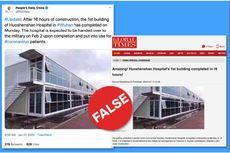 Kabar Bangunan Pertama Rumah Sakit Corona Wuhan Dianggap HOAKS
