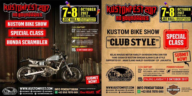 Dua kelas baru di Kustomfest 2017
