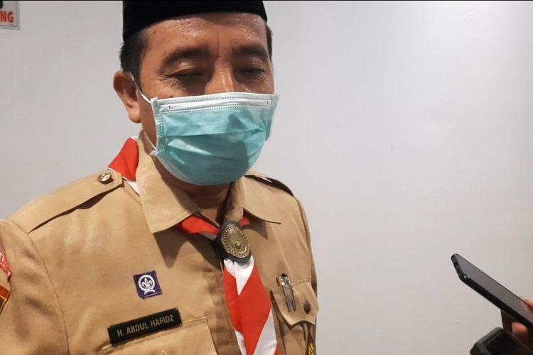 Bupati Rembang, Abdul Hafidz bicara tentang impor garam, ditemui di Kantor Bupati Rembang, Selasa (23/3/2021)