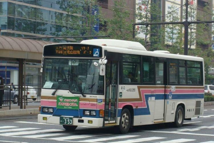 Bus kota di Okayama, Jepang.