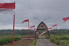 Tradisi Kibarkan Ribuan Bendera Merah Putih di Sawah yang Tak Luntur meski Pandemi