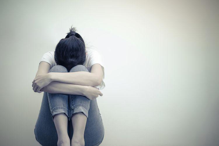 Ilustrasi sedih, depresi
