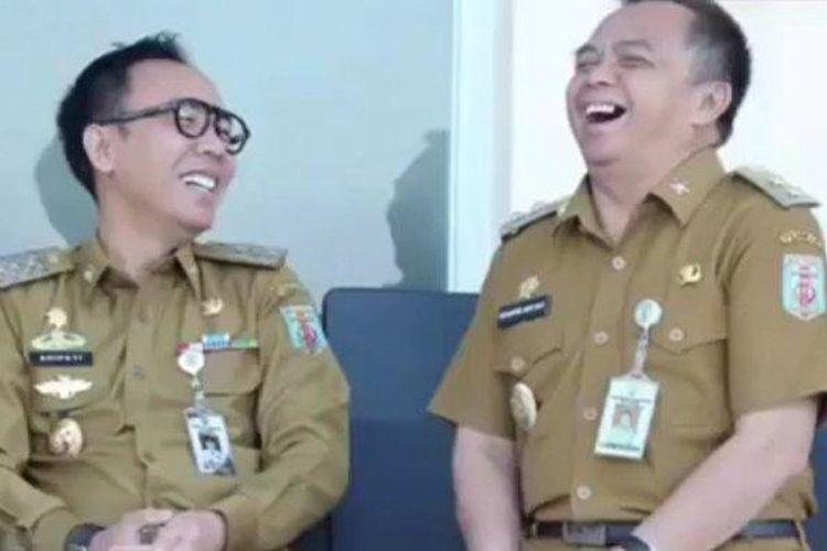 Bupati Way Kanan Raden Adipati Surya (kiri) dan Wakil Bupati Edward Antony dikenal sebagai pasangan pemimpin yang harmonis dan solid dalam menjalankan roda pemerintahan di daerahnya.