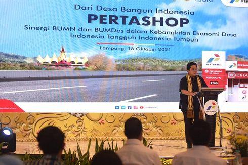Dorong Pertumbuhan Pertashop, Erick Thohir Beri Apresiasi untuk UMKM dan BUMDes