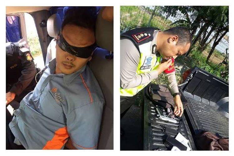 Tim Special Response Reskrim Polres Cirebon Kota menangkap seorang terduga teroris di sekitar Bandara Cakrabuana Kota Cirebon, tempat kunjungan Presiden RI Joko Widodo, Senin (18/9/2017) siang.
