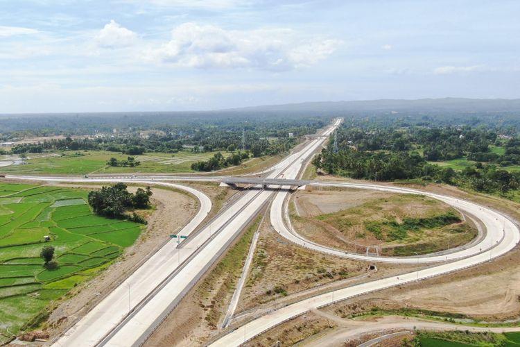 Ruas tol yang dibangun sepanjang 13,5 kilometer ini menjadi bagian dari Jalan Tol Trans Sumatera (JTTS)