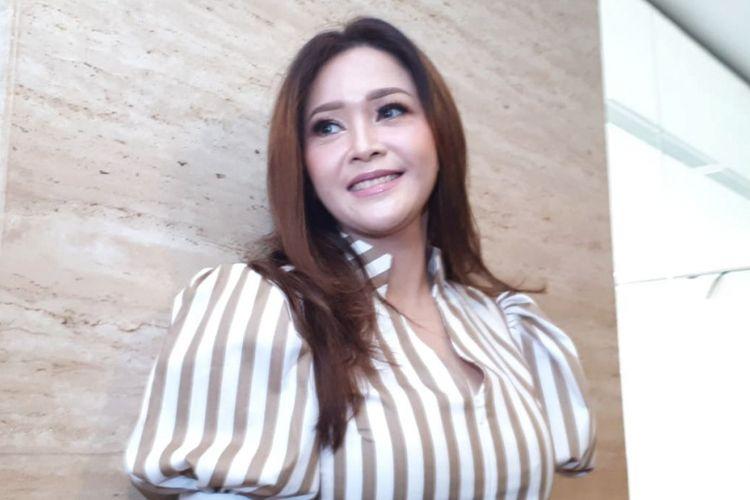 Maia Estianty ditemui pada jumpa pers Indonesian Idol Junior 2018 di MNC Studios, Kebon Jeruk, Jakarta Barat, Selasa (28/8/2018).