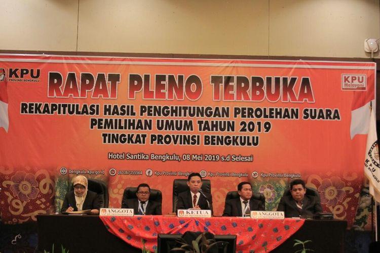 Rapat Pleno KPU Provinsi Bengkulu