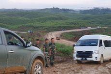 Mobil Menteri Hampir Masuk Jurang Saat Jokowi Tinjau Ibu Kota Baru
