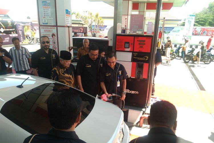 Pertamax Turbo dan Dexlite resmi di luncurkan di Kota Palu, Sulawesi Tengah, Rabu (13/04/2017).