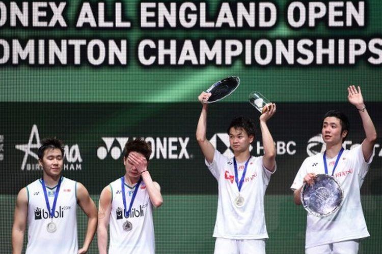 Hiroyuki Endo/Yuta Watanabe (Jepang) keluar sebagai juara All England Open 2020 setelah mengalahkan ganda putra nomor satu dunia asal Indonesia, Marcus Fernaldi Gideon/Kevin Sanjaya Sukamuljo.