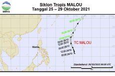 Terdeteksi Siklon Tropis Malou dan Bibit Siklon 99W, Ini Dampaknya di Indonesia