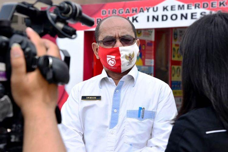 Kepala Dinas Kominfo dan Koordinator Informasi Satgas Penanganan Covid-19 Sumut, Irman Oemar.