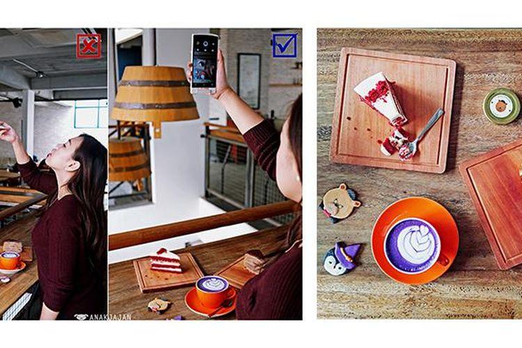 Ilustrasi food photography dengan oppo N3