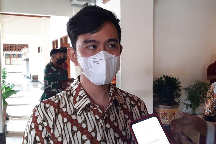 Wali Kota Solo Gibran Rakabuming Raka di Balai Kota Solo, Jawa Tengah, Selasa (22/6/2021).