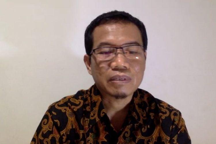 Juru Bicara Penanganan Covid-19 di Kaltim, Andi M Ishak saat memberi keterangan pers di Samarinda, Kamis (18/6/2020).