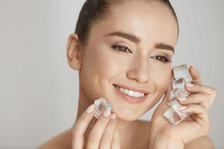 Terapi skin icing menggunakan es batu