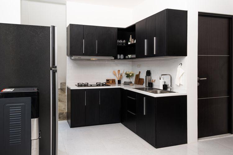 Desain dapur minimalis dari Fabelio Projects.