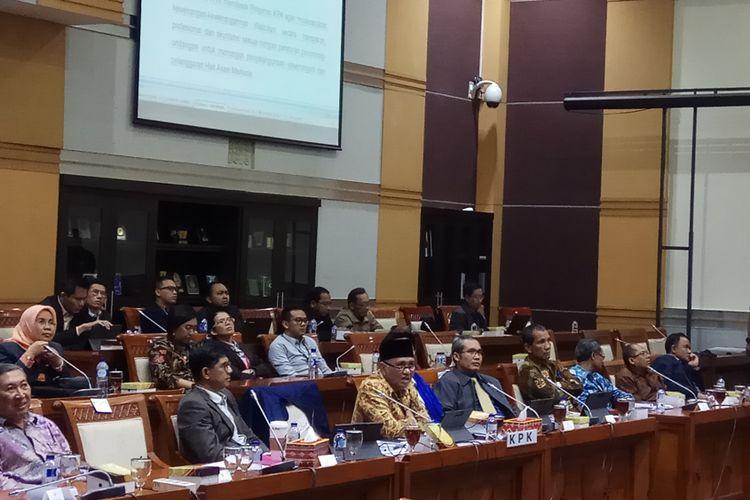 Pimpinan Komisi Pemberantasan Korupsi (KPK) Hadir Dalam Rapat Dengan Pendapat (RDP) dengan Komisi III DPR RI. Jakarta, Selasa (26/9/2017).