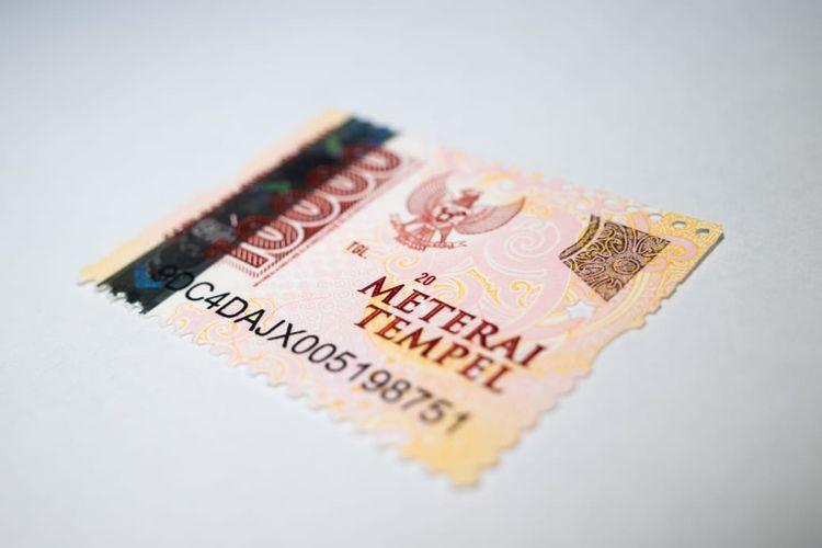 Tampilan meterai Rp 10.000.