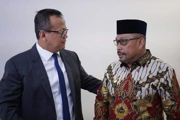Gubernur Maluku, Murad Ismail menemui Menteri Kelautan dan Perikanan Edhy Prabowo di Kantor Kementrian Keluatan dan Perikanan di Jakarta, Kamis (14/11/2019). Dalam pertemuan itu Murad dan Menteri Edhy ikut makan siang bersama