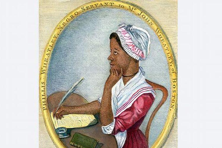 Gambar penulis puisi Afrika-Amerika, Phillis Wheatley.
