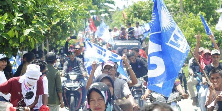 Kampanye pilkada di Kabupaten Buru Selatan.