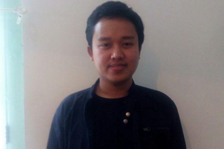 Chief Executive Officer (CEO) Aku Pintar, Lutvianto Febri Handoko di acara Vokasi dan Ironi Pendidikan di Era Milenial di Warung Daun, Jln. Cikini Raya, Nomor 26, Jakarta Pusat, Sabtu (10/11/2018).