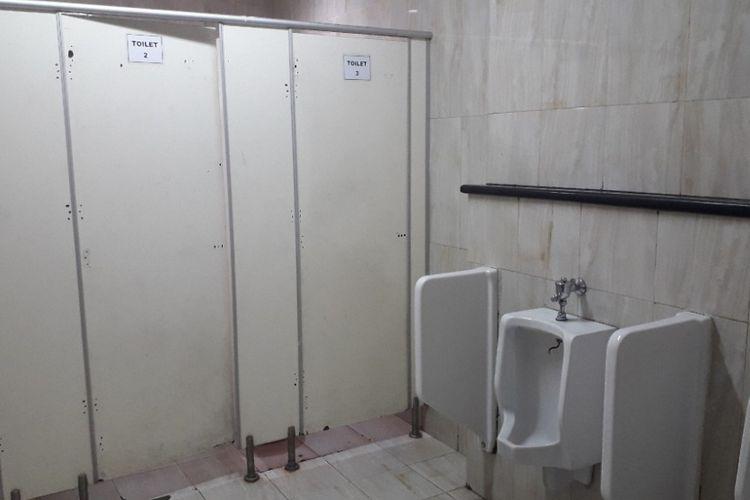 Kondisi toilet di RSUD Koja, Jakarta Utara, yang disebut kotor oleh salah satu anggota DPRD, Jumat (26/10/2018).