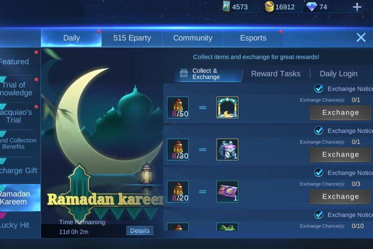 Event Ramadan Kareem di Mobile Legends.