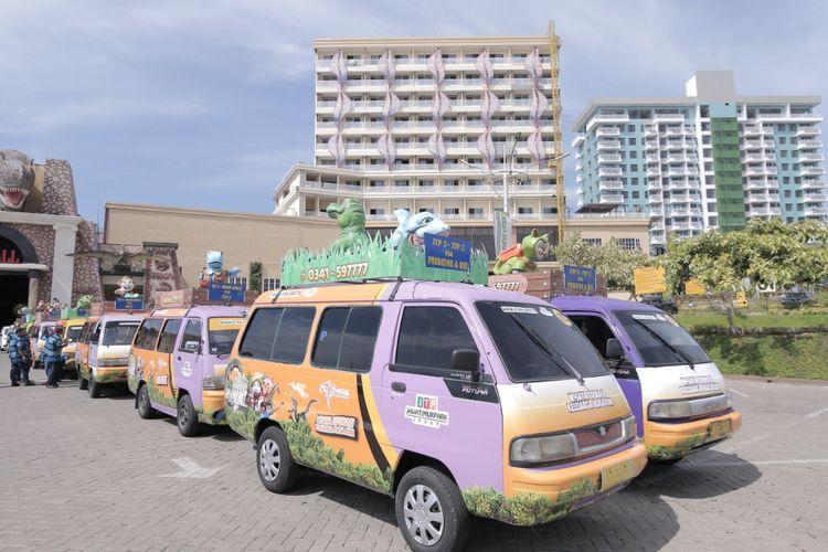 Angkutan wisata gratis yang disediakan Jatim Park Group untuk wisatawan, Jumat (16/11/2018).