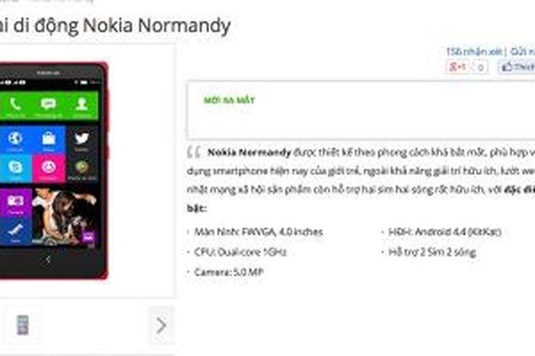 Spesifikasi Nokia