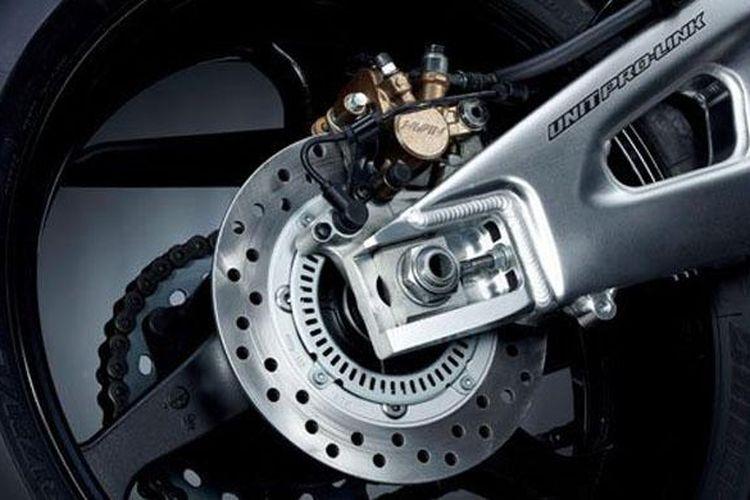 Ilustrasi pengereman sepeda motor Honda.