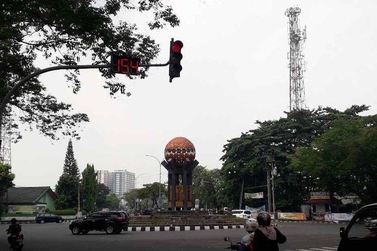 Lampu merah yang sempat viral di media sosial telah diperbaiki Dinas Perhubungan Kota Tangerang.