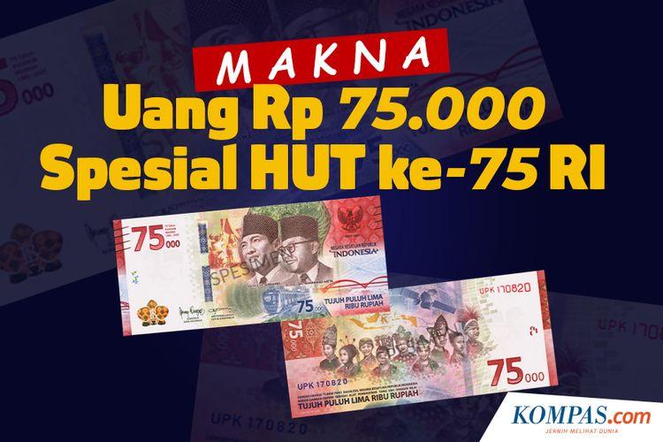 Makna Uang Rp 75.000 Spesial HUT ke-75 RI