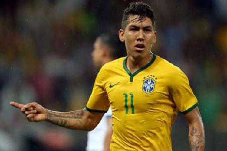 Roberto Firmino, gelandang serang Brasil.