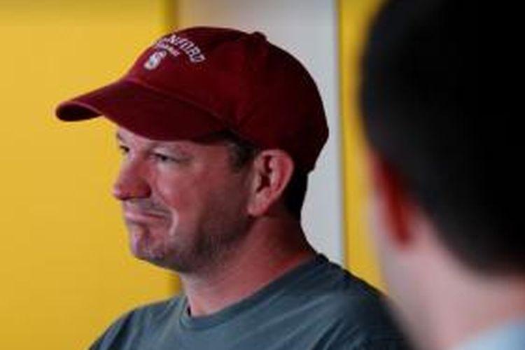 Salah satu pendiri WhatsApp, Brian Acton, saat berbincang santai di Start X, Palo Alto, California, AS, Rabu (4/6/2014) waktu setempat.