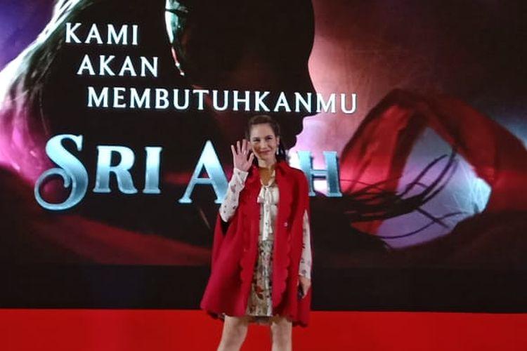 Pevita Pearce diperkenalkan oleh Jagat Sinema Bumilangit sebagai pemeran karakter Sri Asih dalam film Sri Asih di Atrium Senayan City, Jakarta Pusat, Sabtu (21/9/2019).