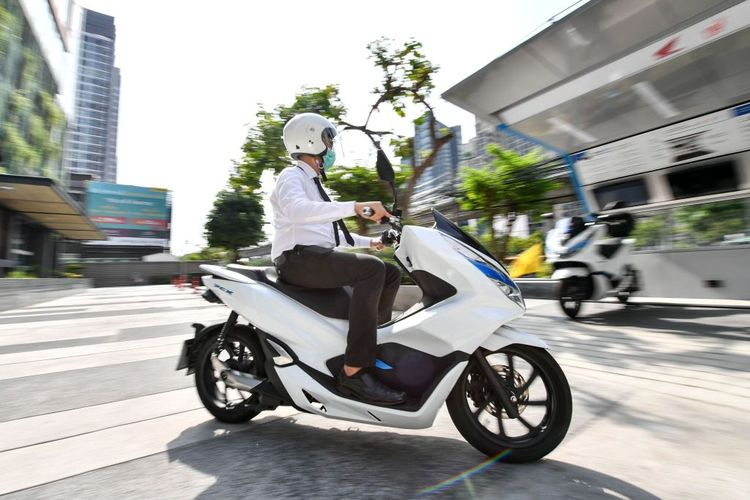 Honda PCX Electric mulai disewakan di Thailand