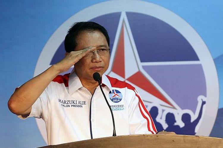 Peserta Konvensi Partai Demokrat yang juga Ketua DPR RI, Marzuki Alie