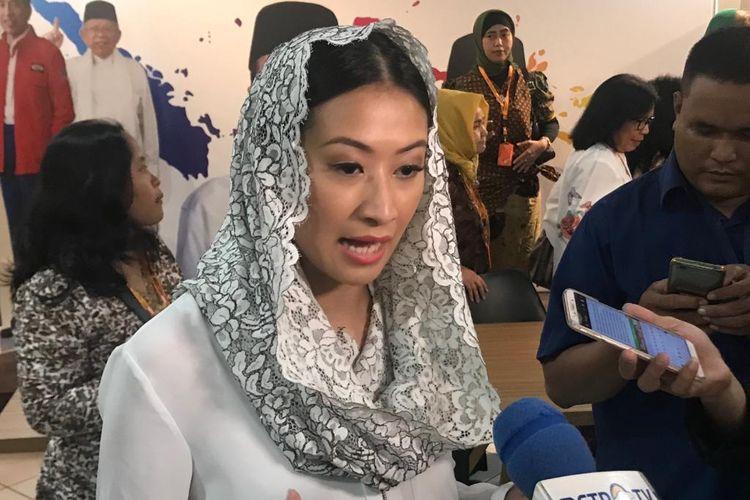 Politisi Partai NasDem, Lathifa Al Anshori, di Posko Cemara, Jakarta Pusat, Selasa (14/5/2019).