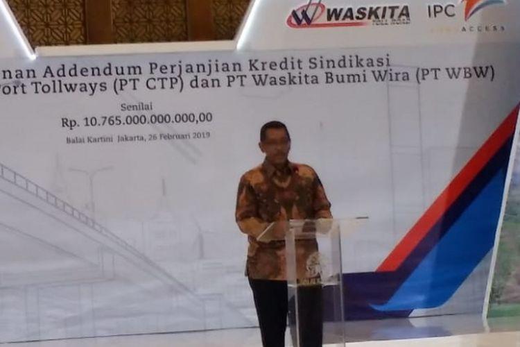Direktur Utama PT Cibitung Tanjung Priok Port Tollways (CTP) Thorry.