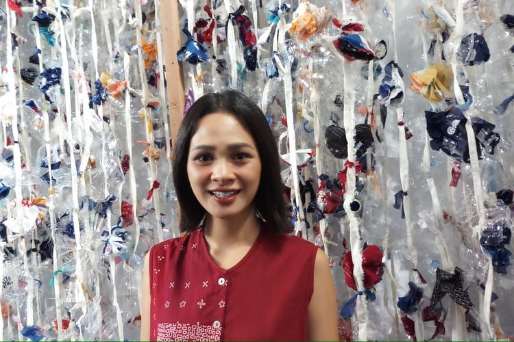 Penyanyi Andien Aisyah saat ditemui di kawasan Senayan, Jakarta Pusat, Kamis (28/11/2019).