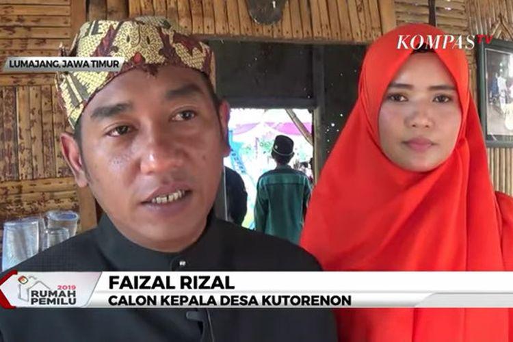 Pasangan Faizal Rizal dan istrinya Erdavizarah Caprishintamaju mencalonkan diri untuk menjadi Kepala Desa Kutorenon, Kecamatan Sukodono, Lumajang, Jawa Timur.