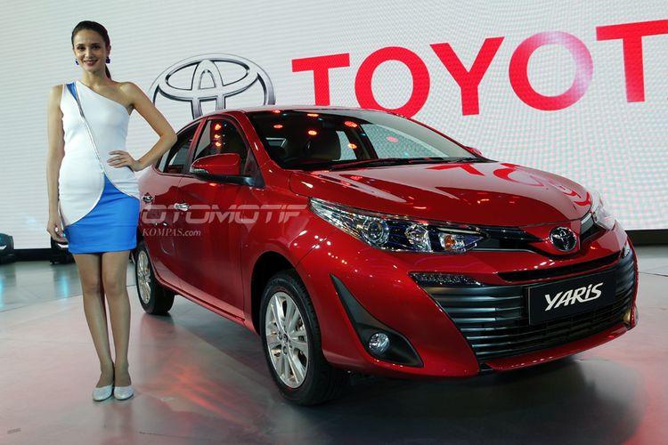 Toyota Yaris sedan atau di Indonesia dikenal Vios meluncur di Delhi Auto Expo, Rabu (7/2/2018).
