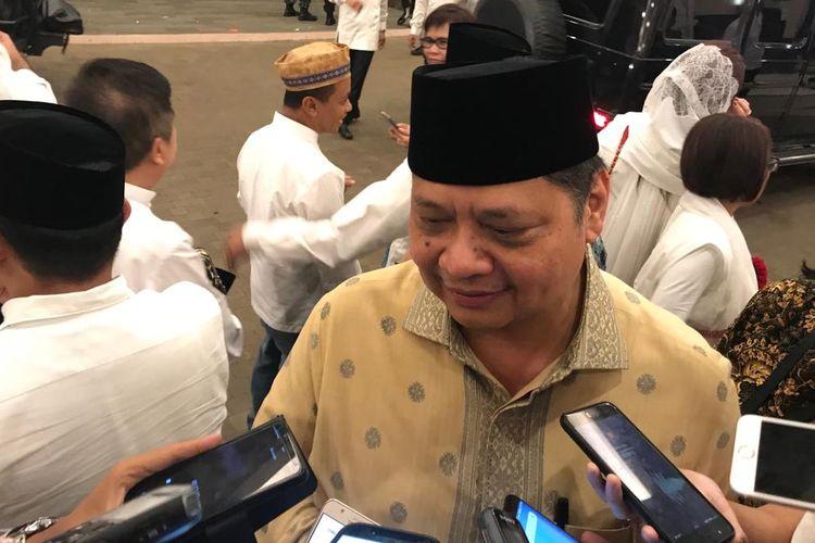 Menteri Perindustrian Airlangga Hartarto di Jakarta, Jumat (24/5/2019).