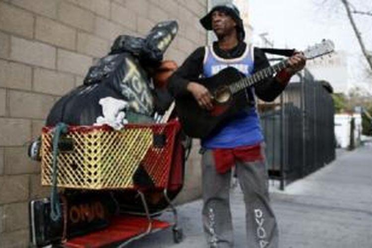 Pemerintah AS mengatakan, lebih 46 juta orang warga AS hidup pada atau di bawah garis kemiskinan